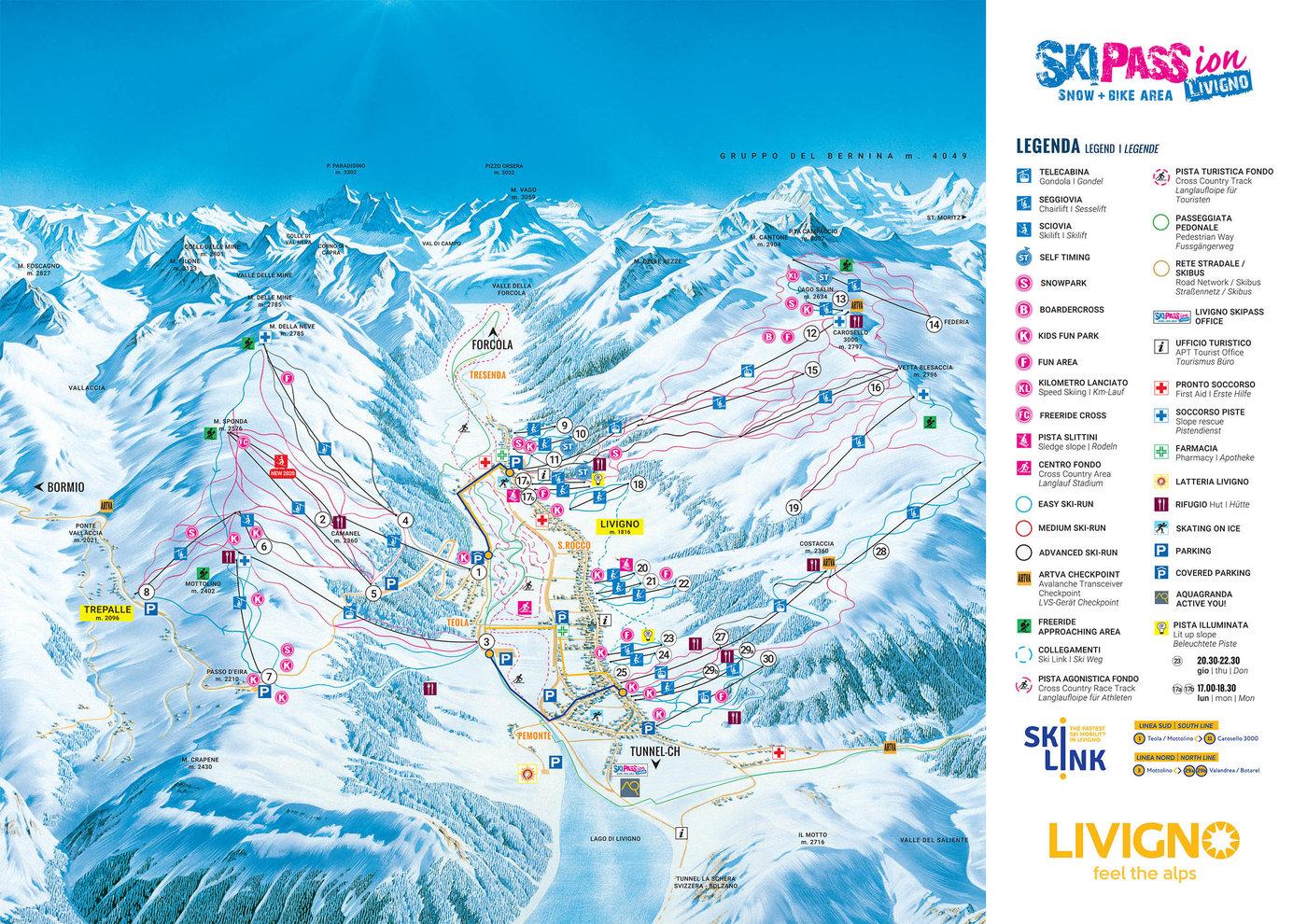 Livigno Trail Map