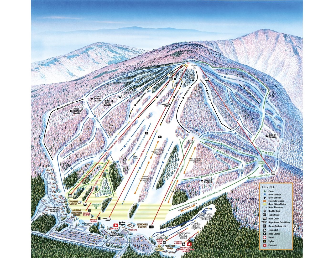 Cranmore Mountain Trail Map