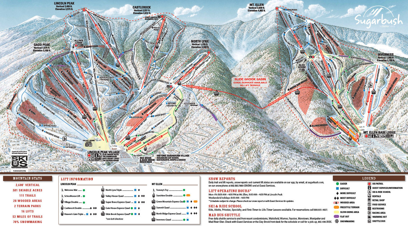 Sugarbush Resort Trail Map