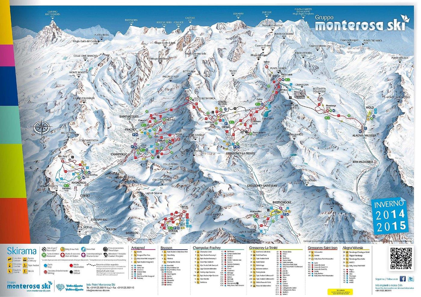 Champoluc Trail Map