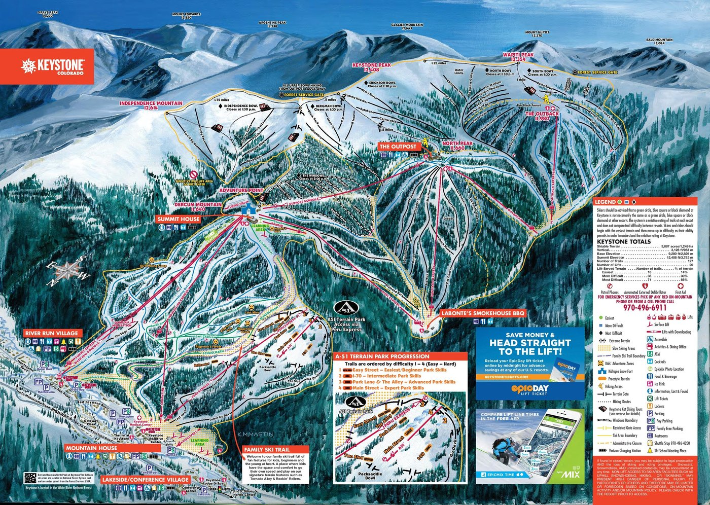 Keystone Resort Trail Map