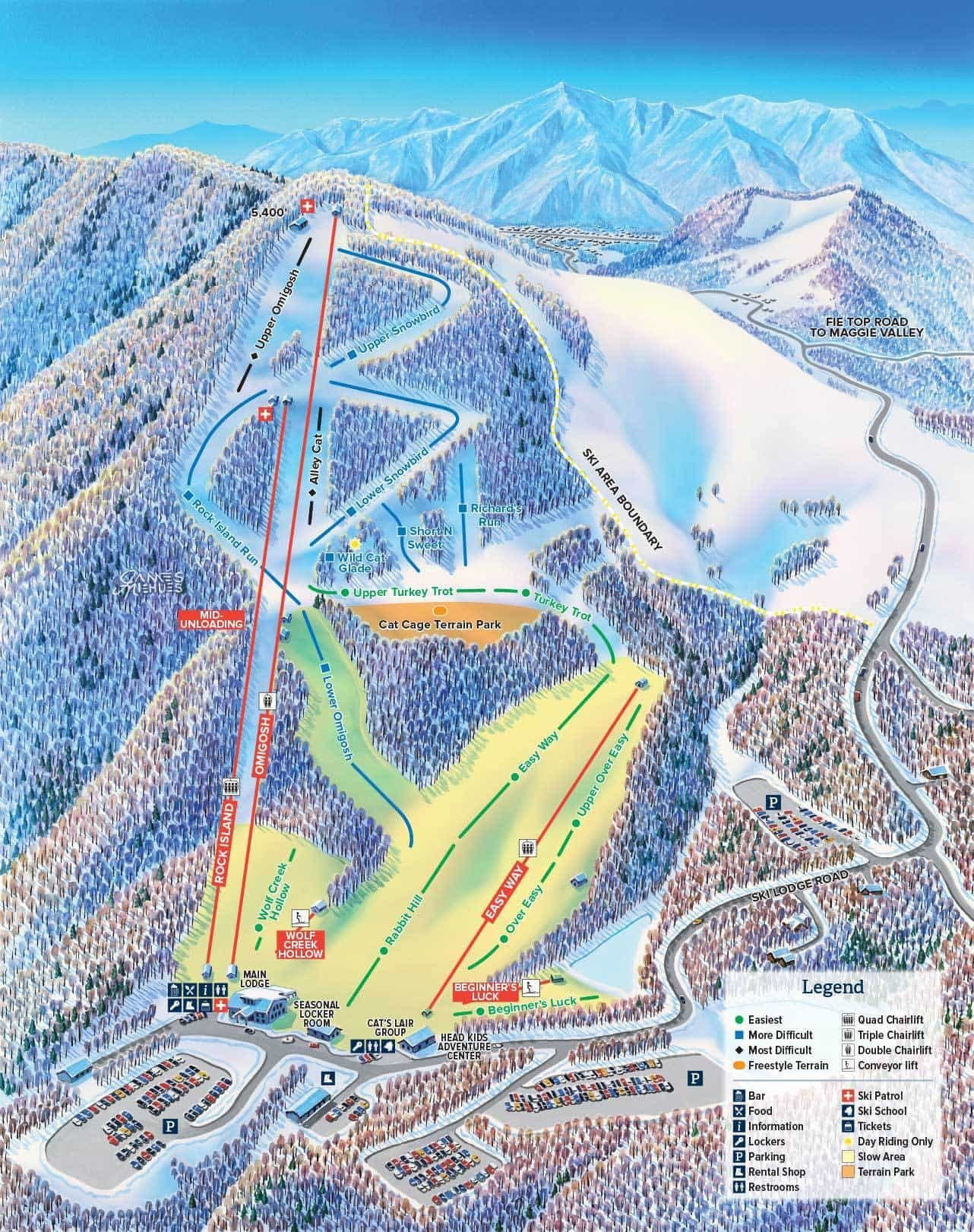 Cataloochee Trail Map