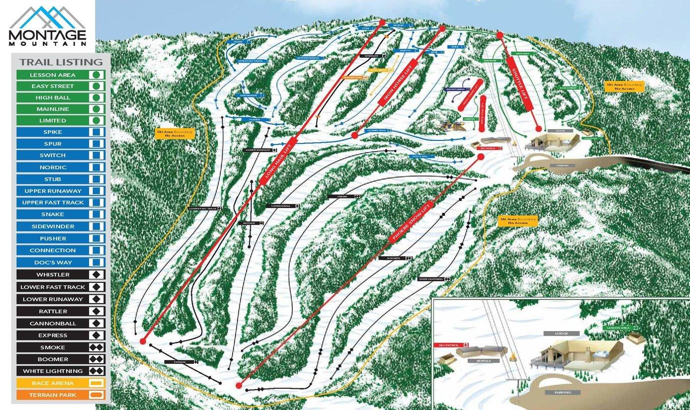 Montage Mountain Trail Map