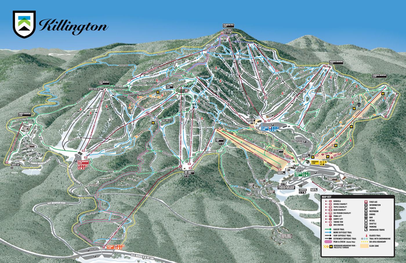 Killington Resort Trail Map