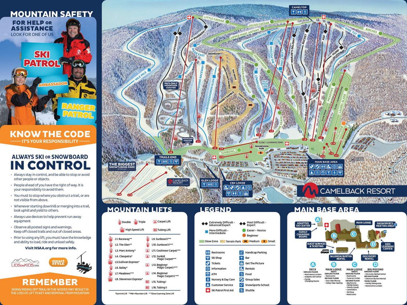 Camelback Mountain Resort Trail Map