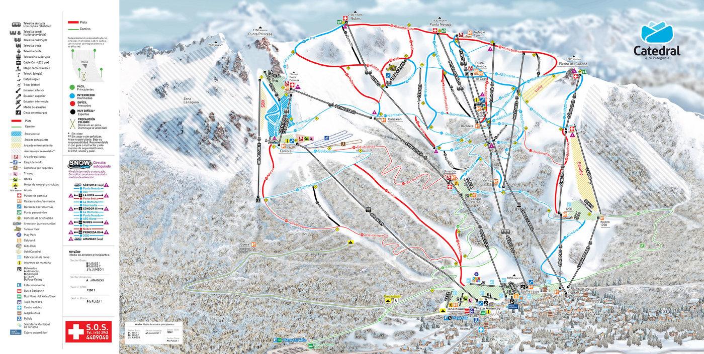 Catedral Alta Patagonia Trail Map
