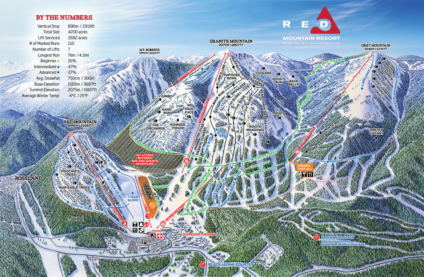 RED Mountain Resort Trail Map
