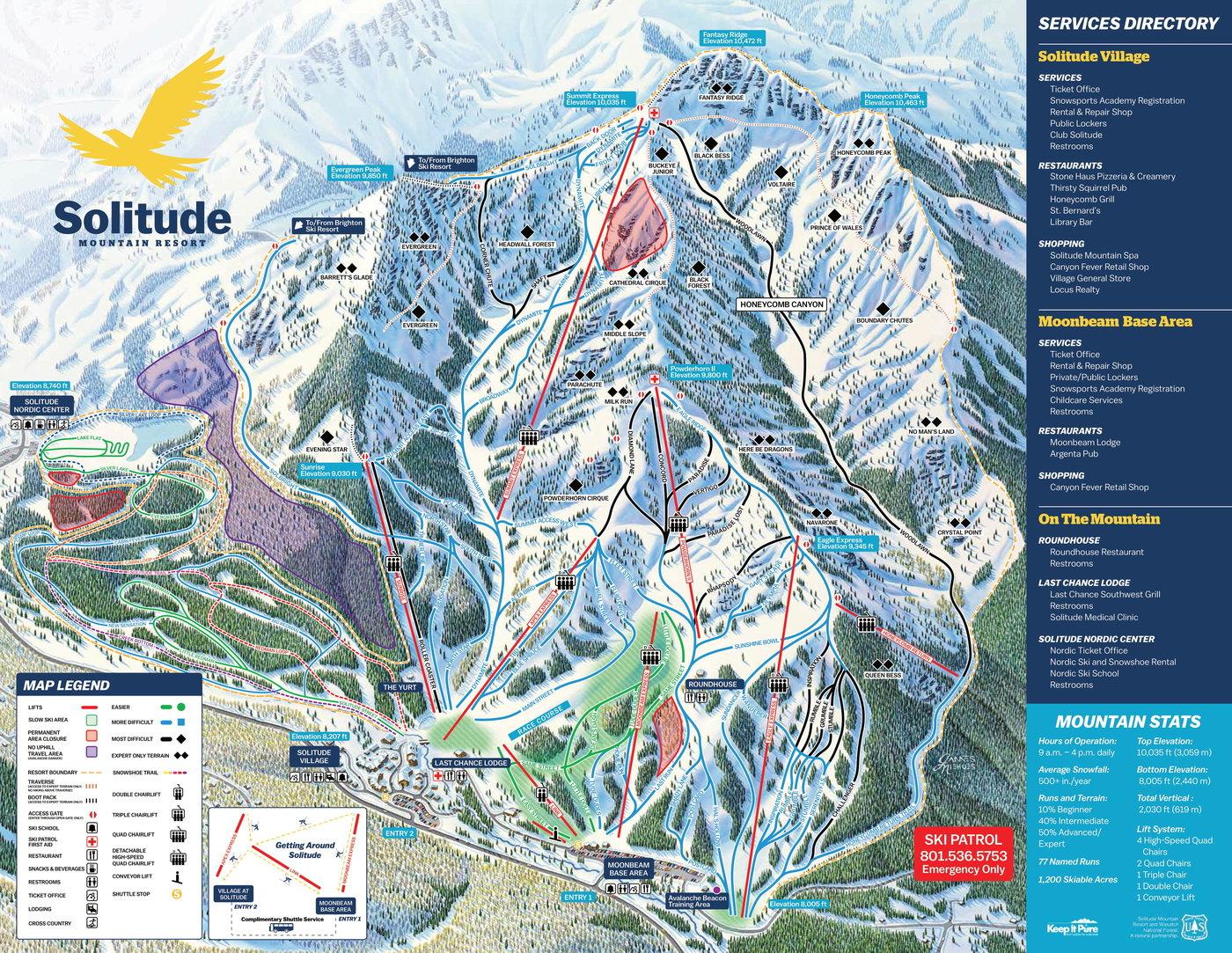 Solitude Mountain Resort Trail Map