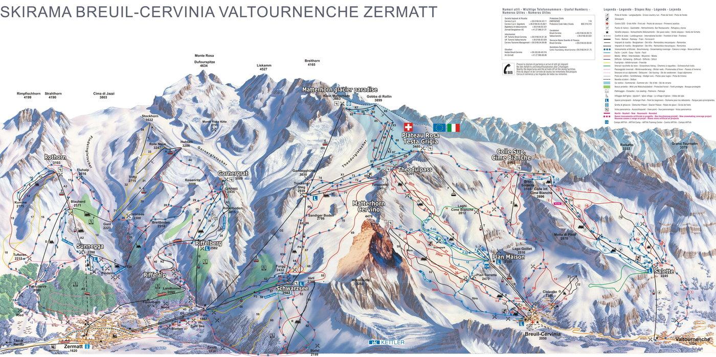 Cervinia Trail Map
