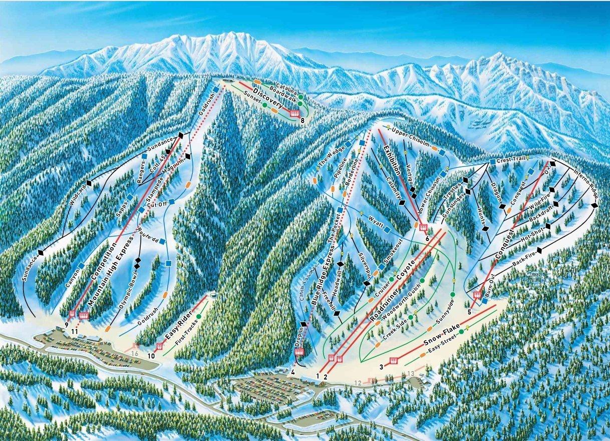 Mountain High Trail Map