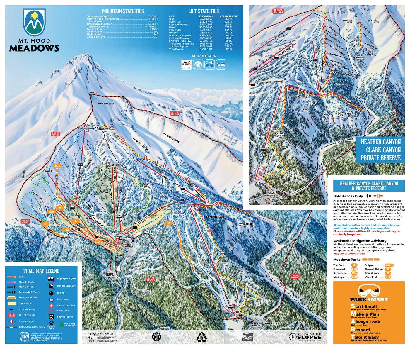 Mount Hood Meadows Trail Map