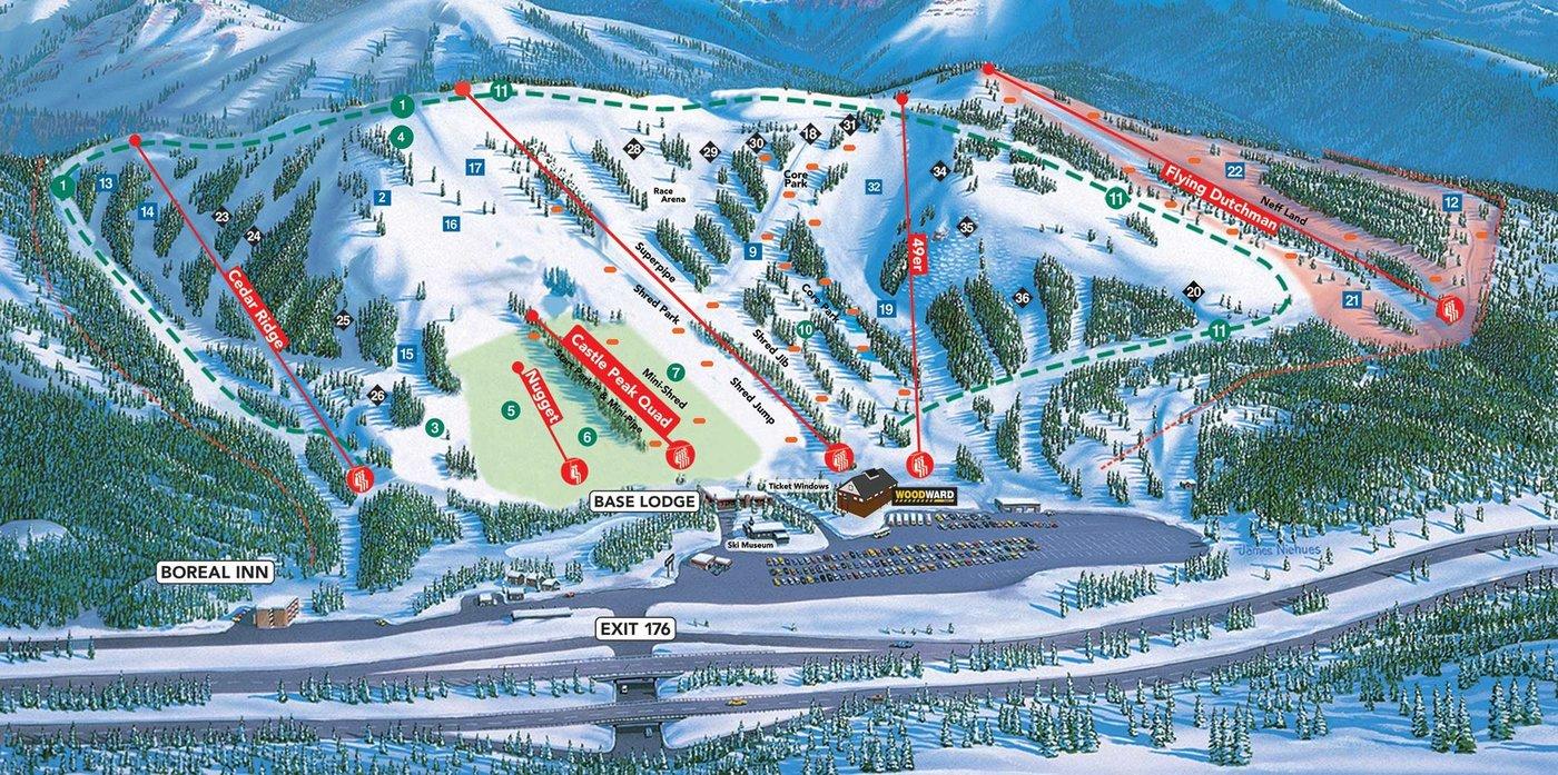 Boreal Mountain Trail Map