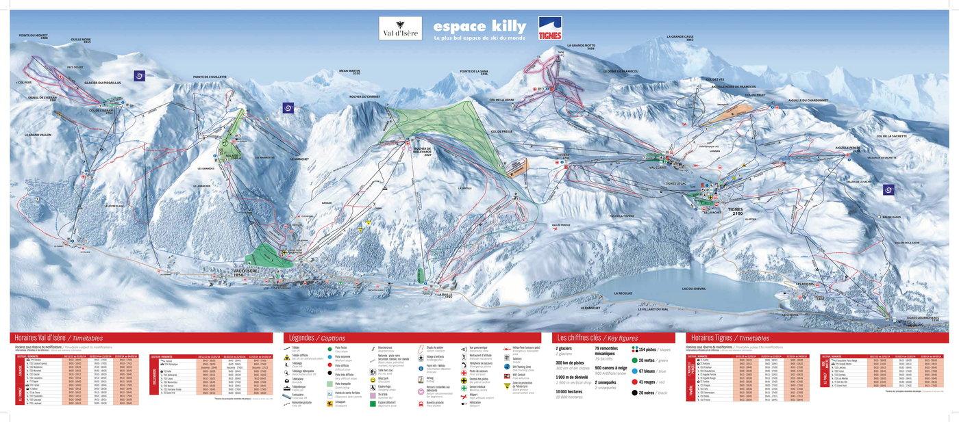 Tignes Trail Map