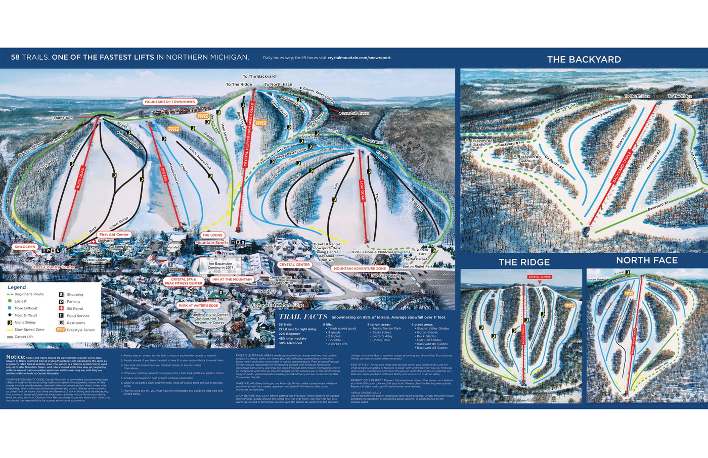 Crystal Mountain Resort WA Trail Map