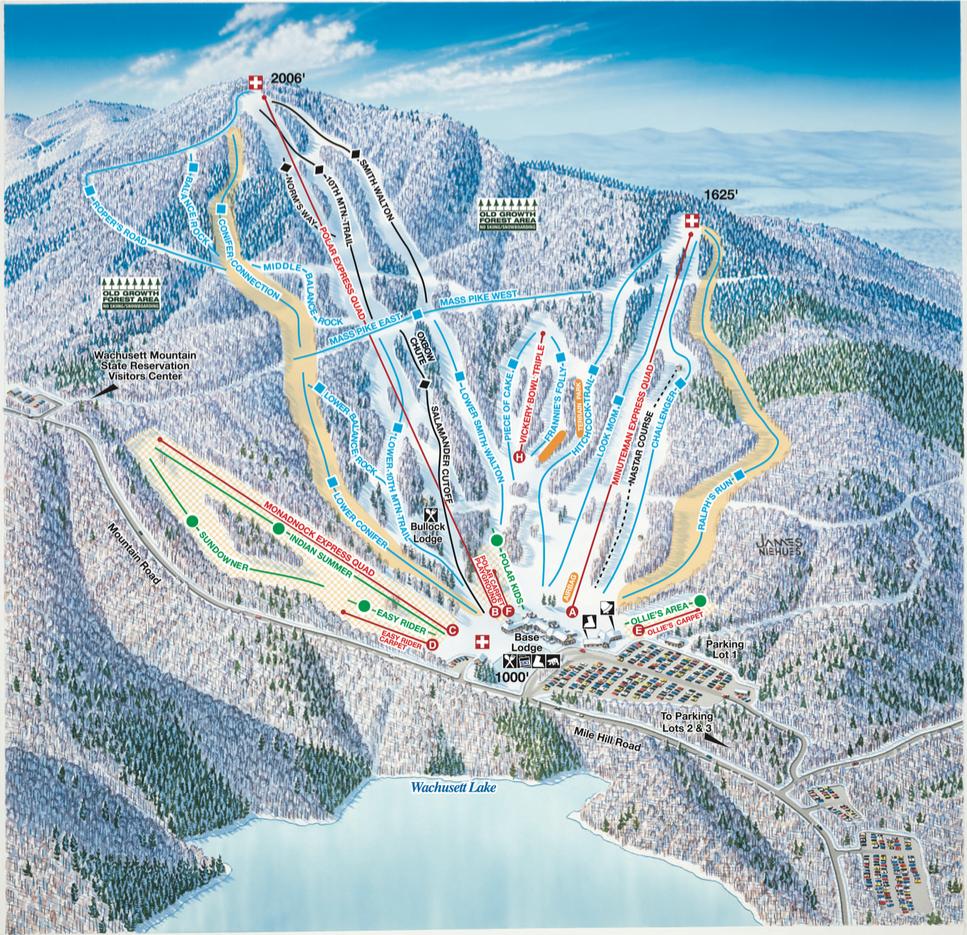 Wachusett Mountain Trail Map