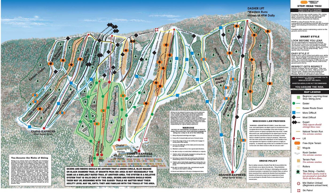 Granite Peak Trail Map