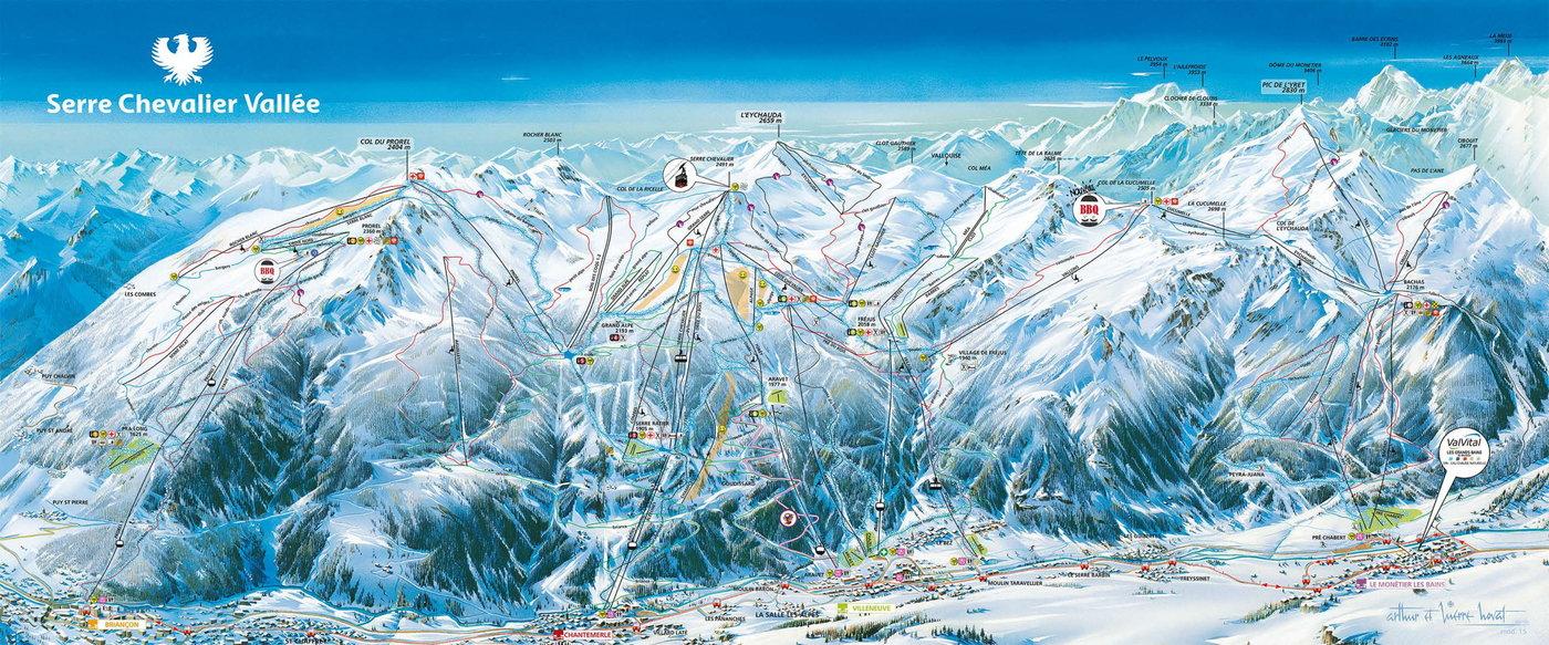 Serre Chevalier Trail Map