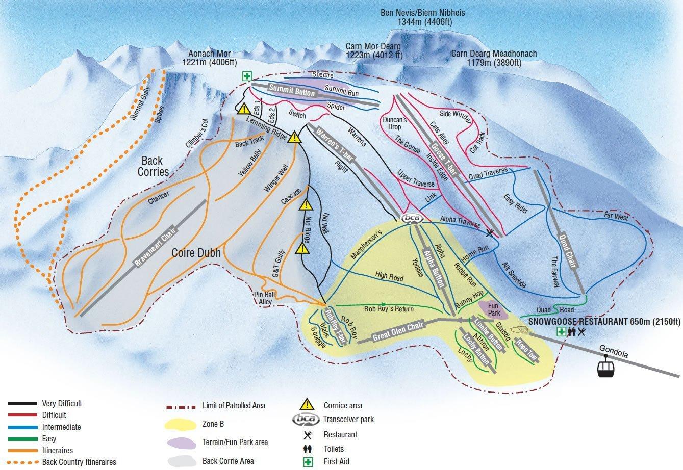 Nevis Range Trail Map