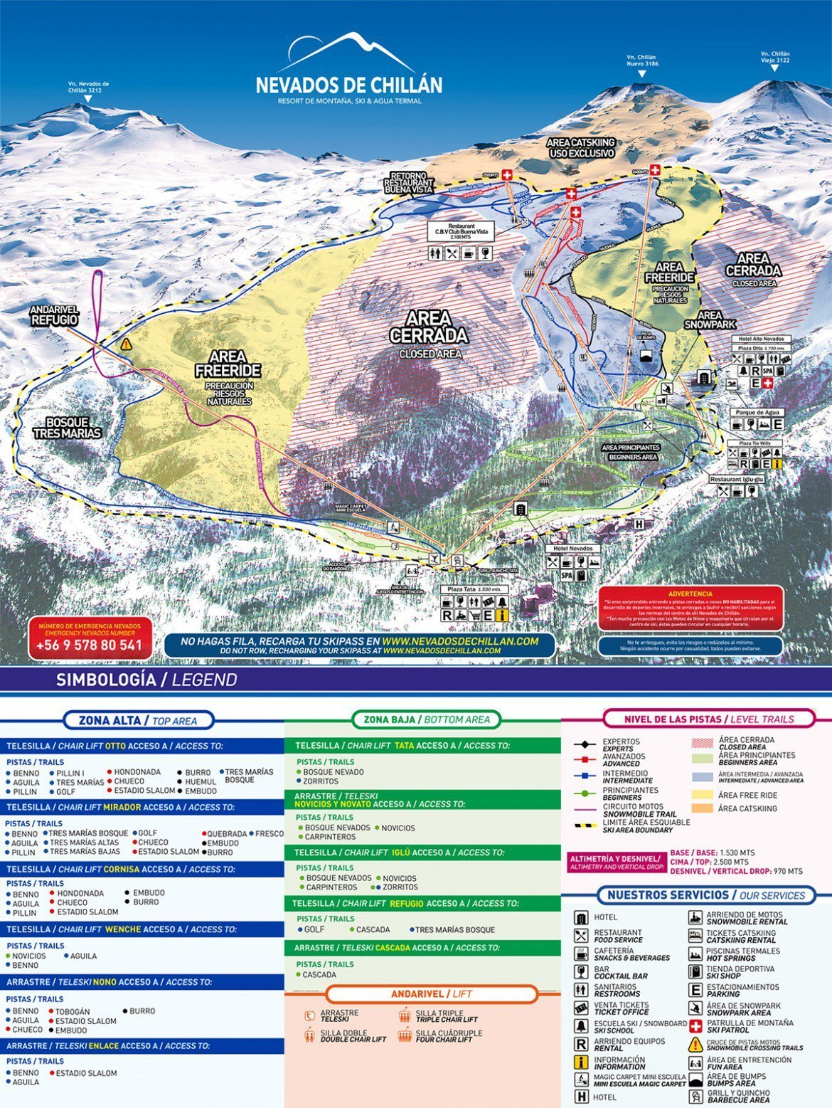 Nevados de Chillan Trail Map