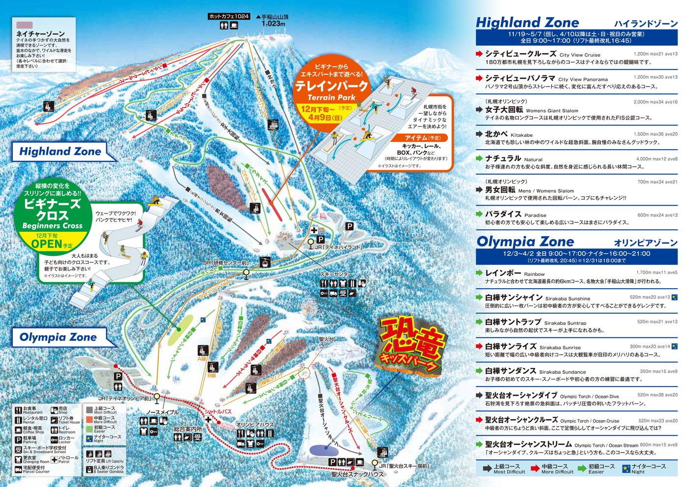 Sapporo Teine Trail Map