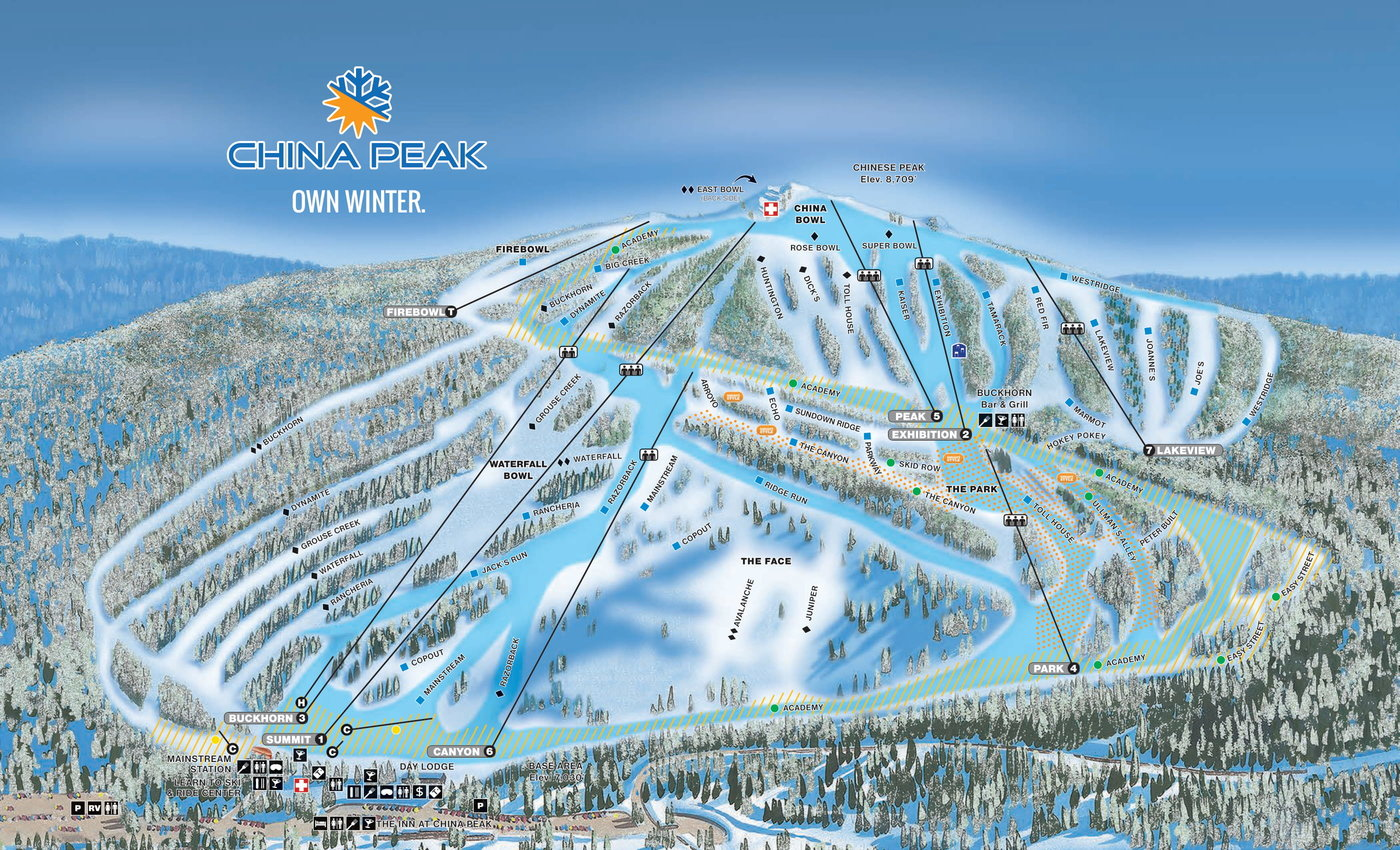China Peak Trail Map