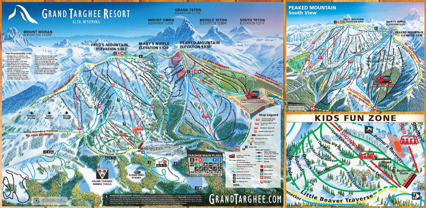 Grand Targhee Resort Trail Map