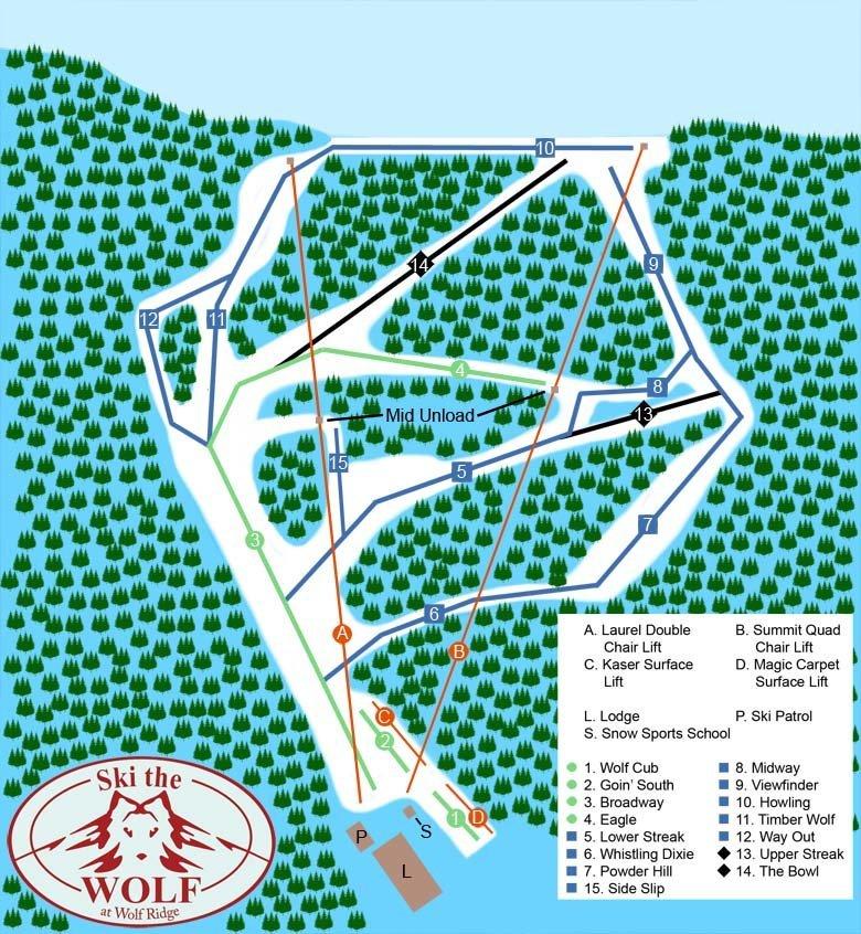 Wolf Ridge Trail Map