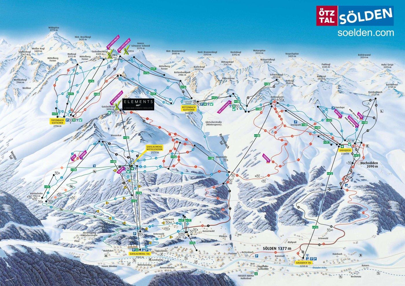 Sölden Trail Map