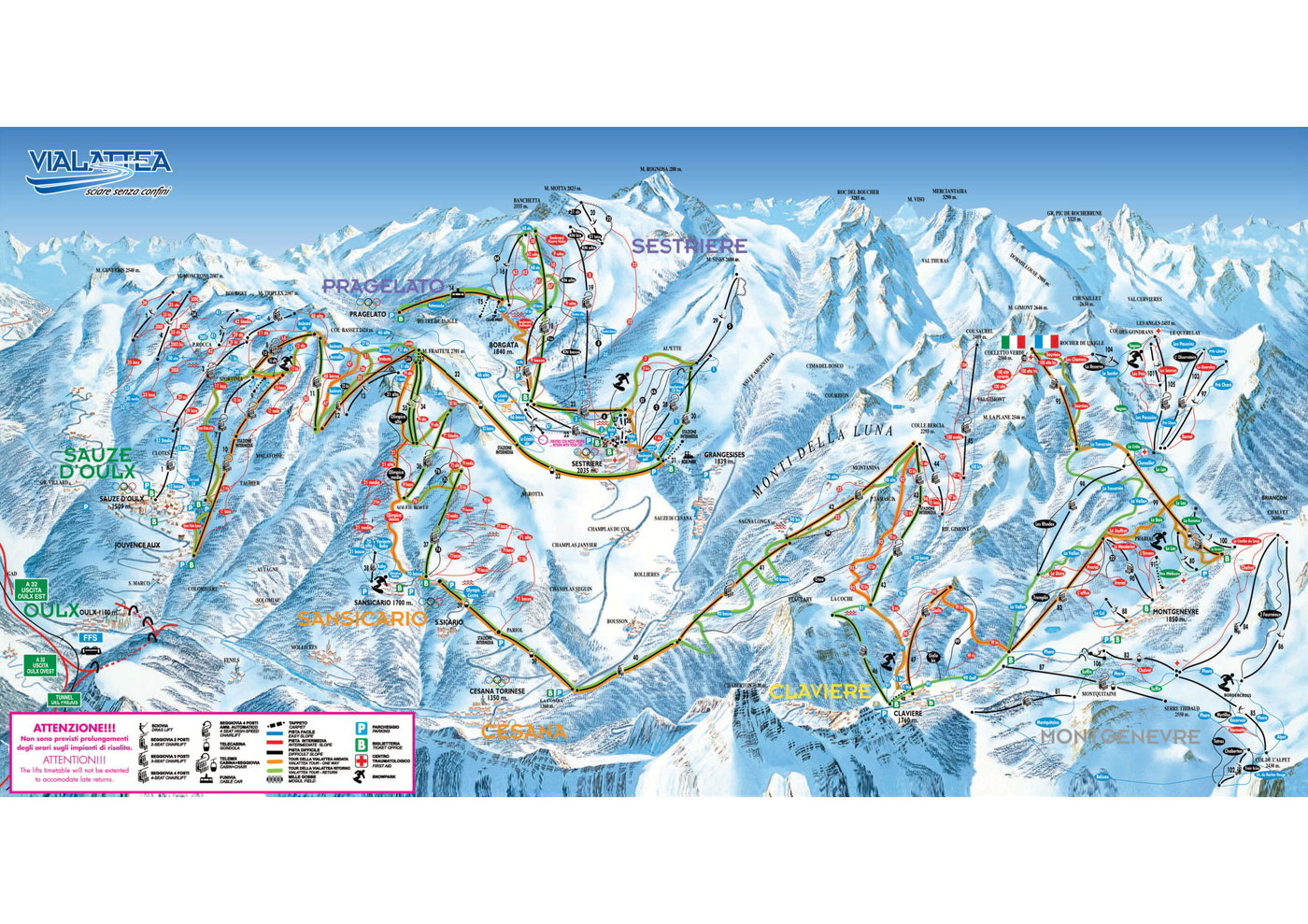 Sestriere Trail Map