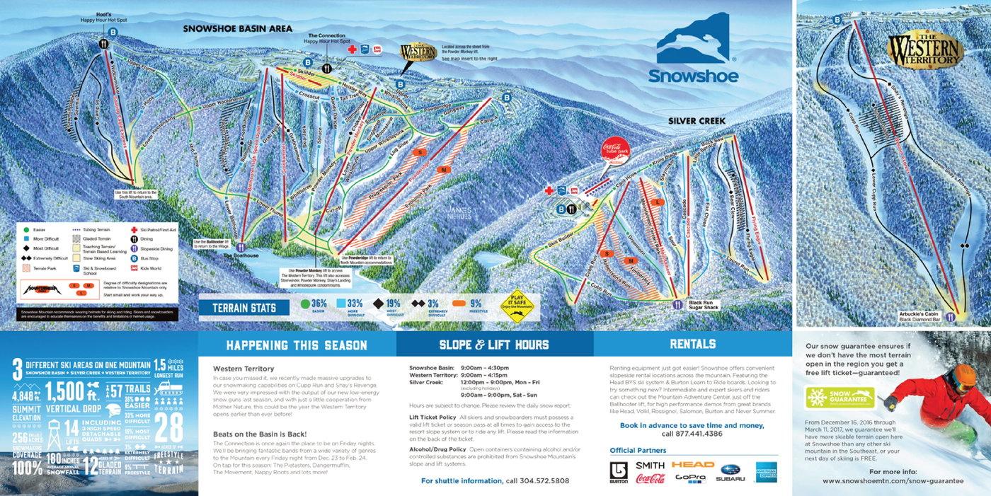 Snowshoe Mountain Trail Map