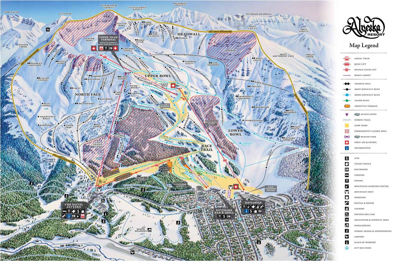 Alyeska Resort Trail Map