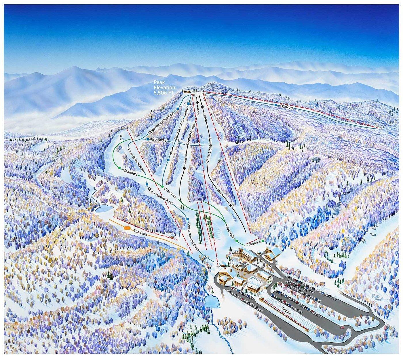Beech Mountain Trail Map