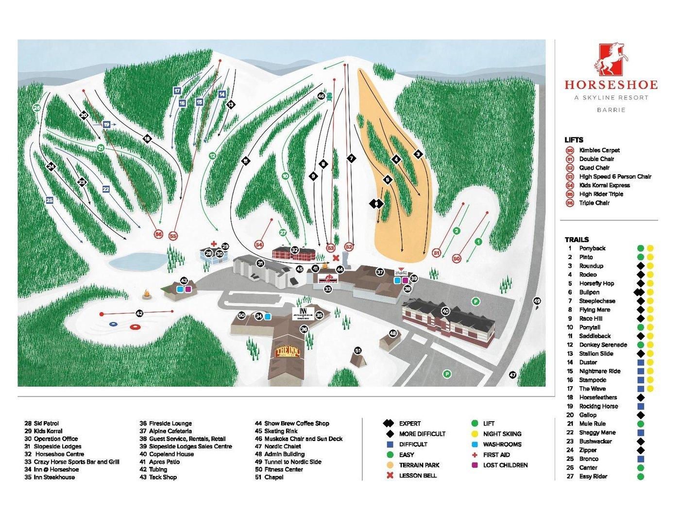 Horseshoe Resort Trail Map