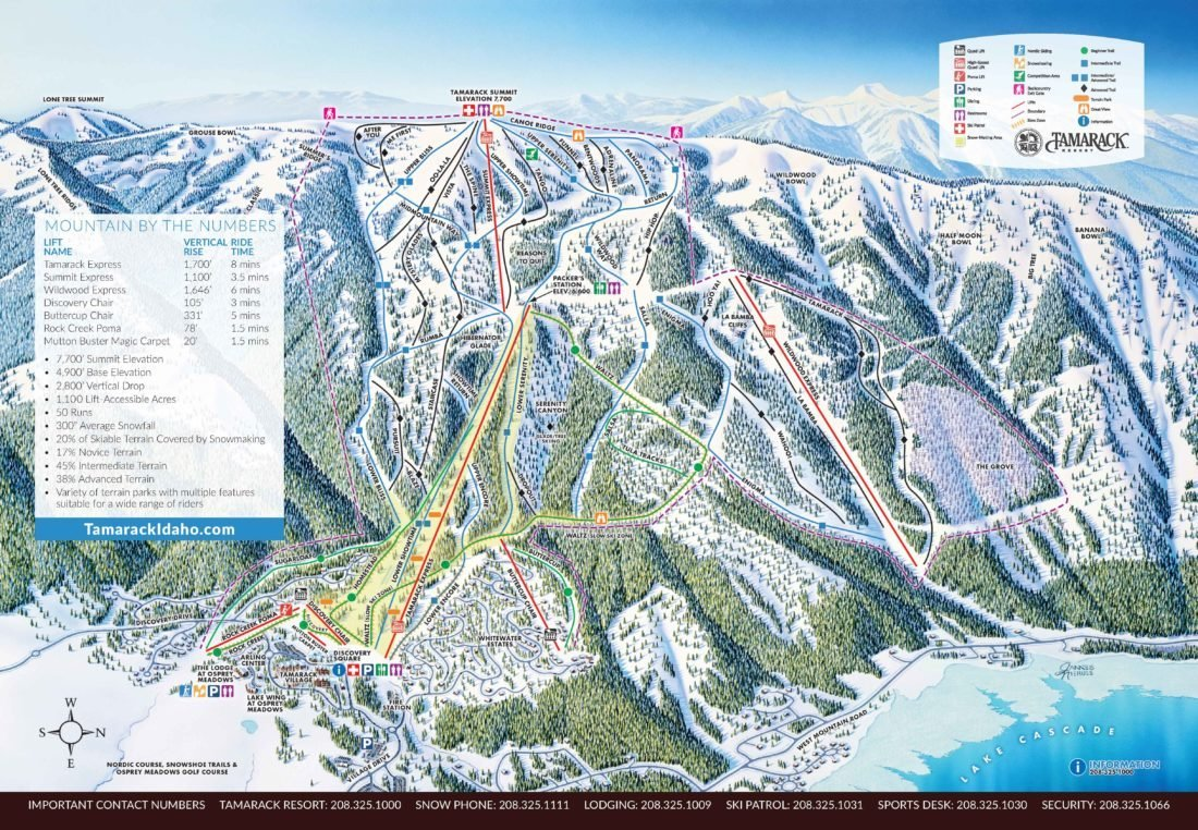 Tamarack Resort Trail Map