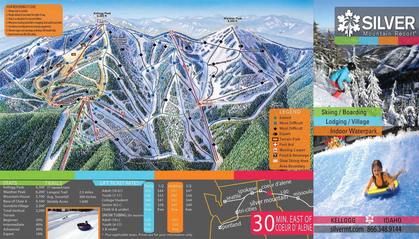 Silver Mountain Trail Map