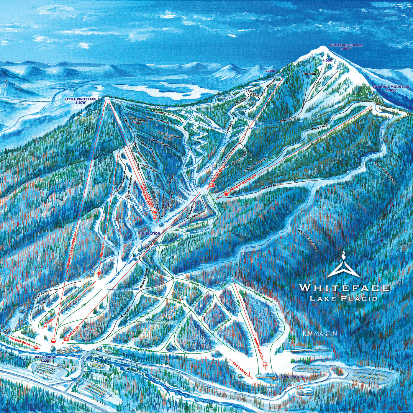 Whiteface Mountain Resort Trail Map