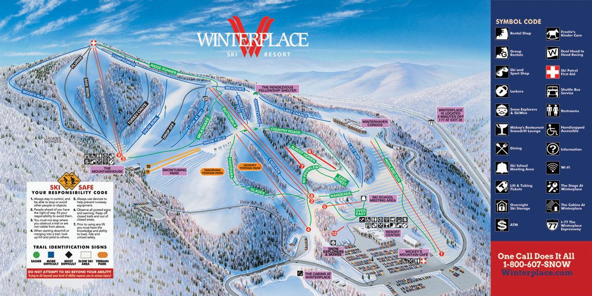 Winterplace Ski Resort Trail Map