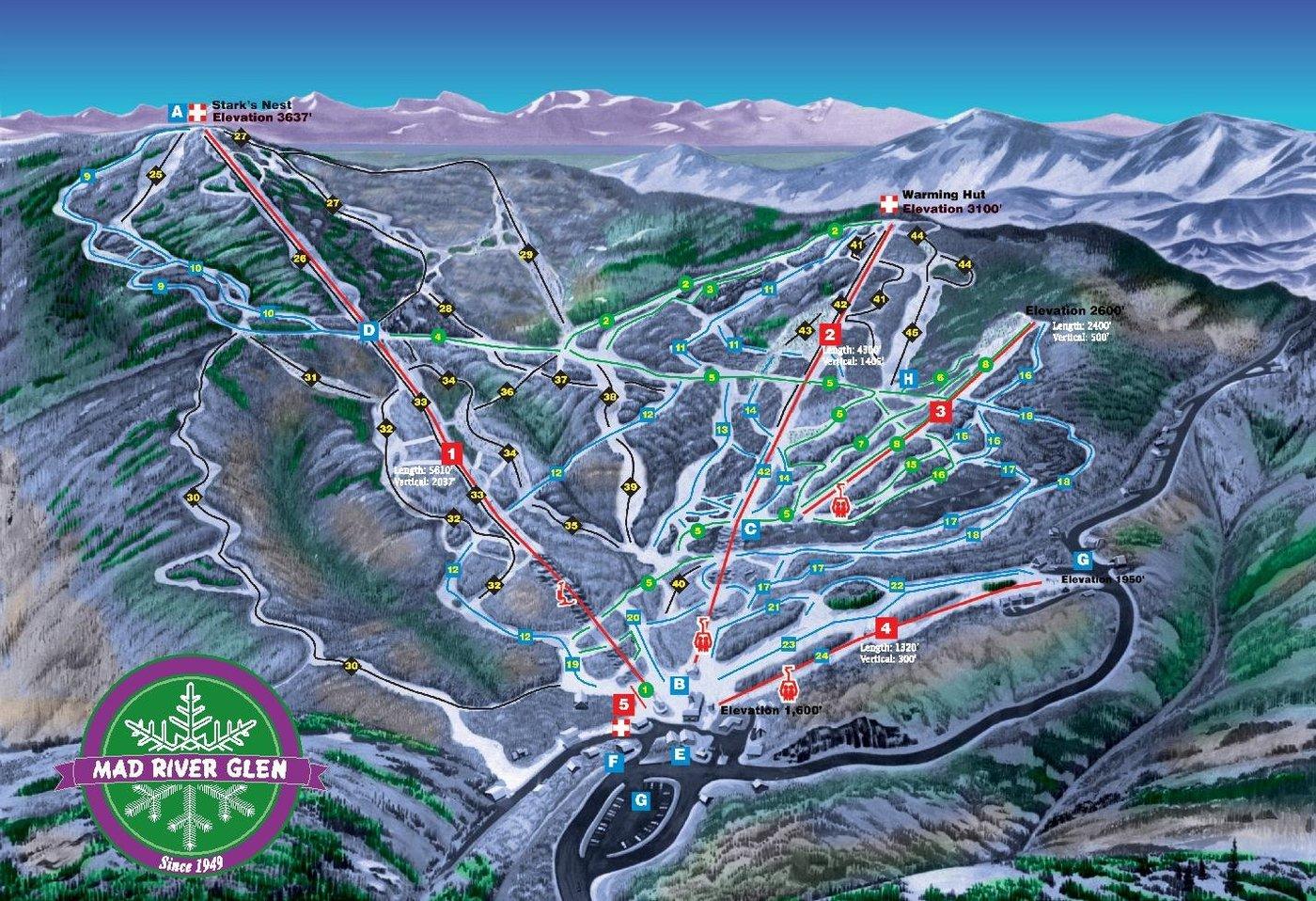 Mad River Glen Trail Map