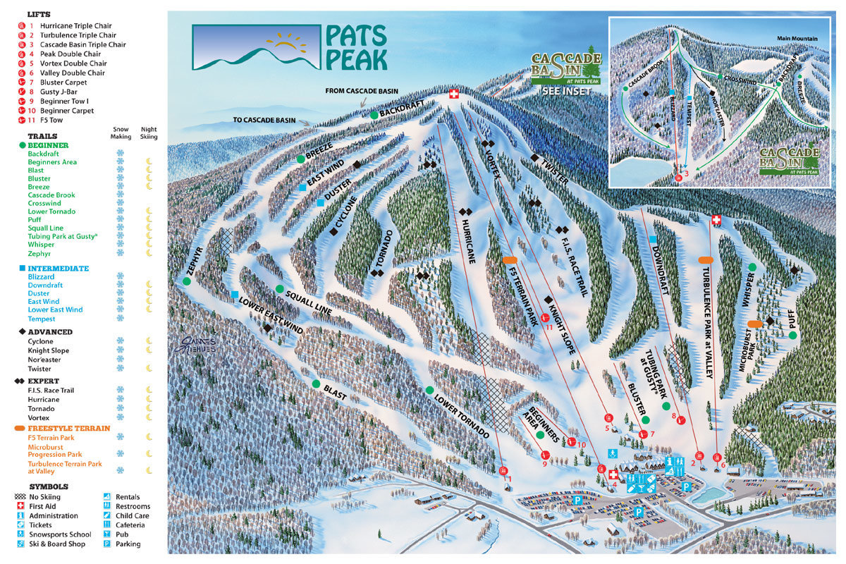 Pats Peak Trail Map