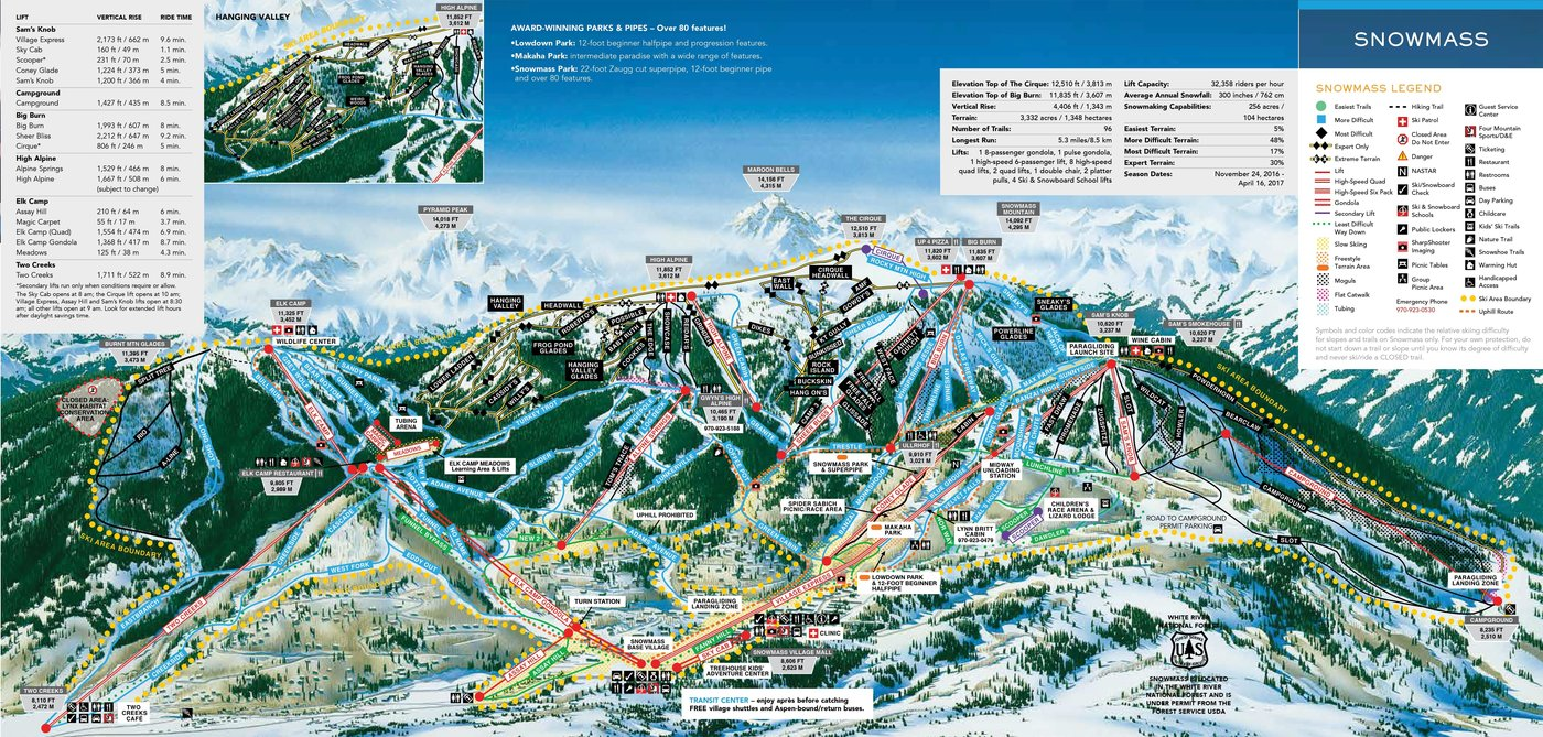 Aspen Snowmass Trail Map