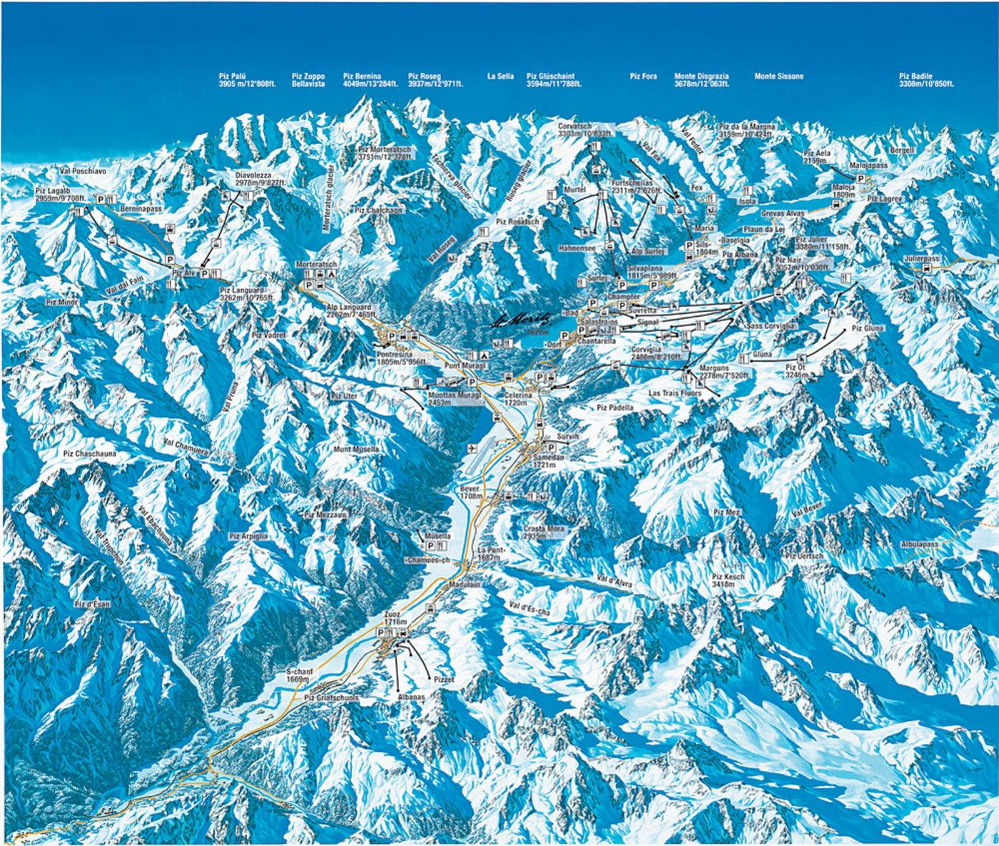 St. Moritz Trail Map