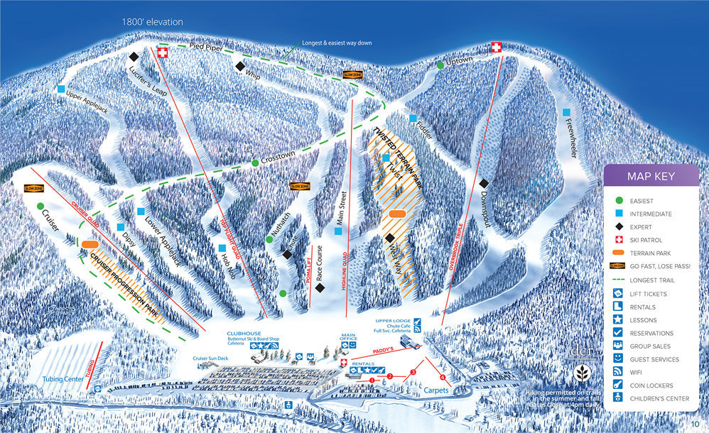 Ski Butternut Trail Map