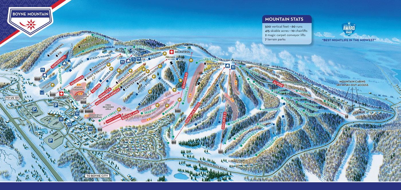 Boyne Mountain Resort Trail Map