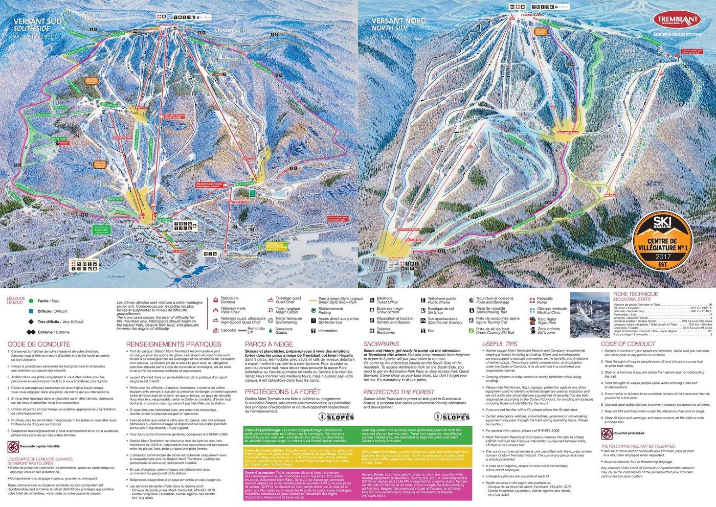 Mont Tremblant Trail Map