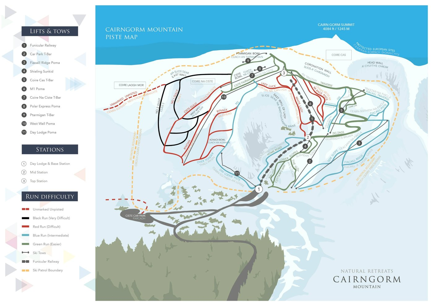 CairnGorm Mountain Trail Map