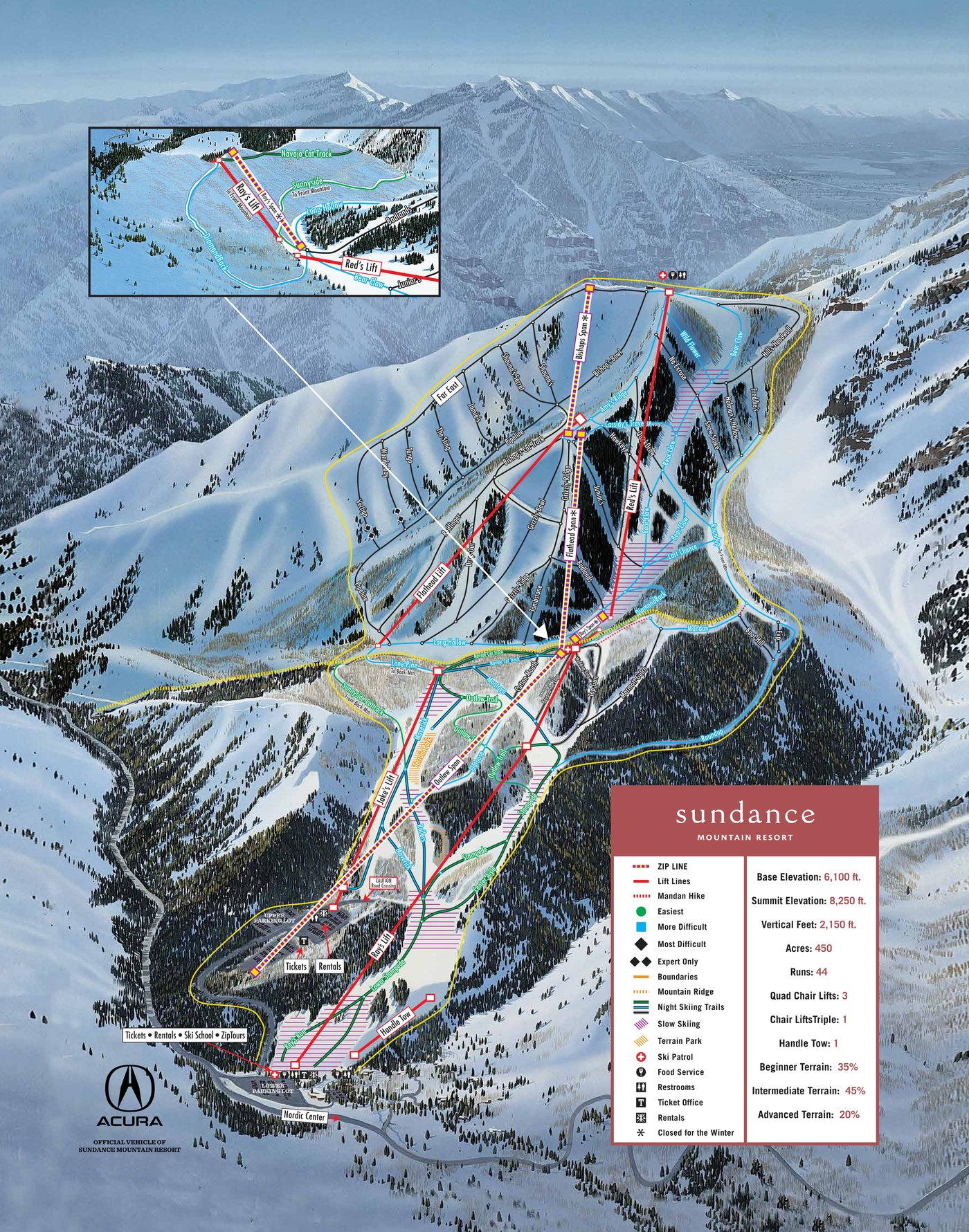 Sundance Trail Map