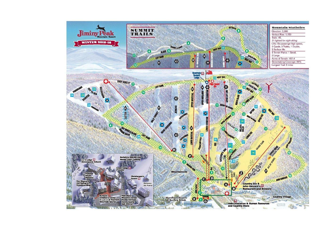 Jiminy Peak Trail Map