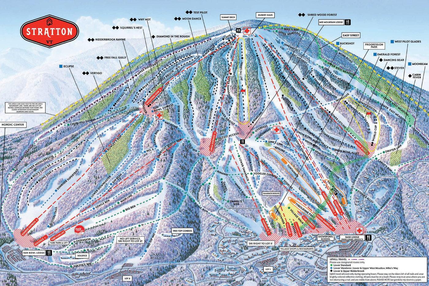 Stratton Mountain Trail Map