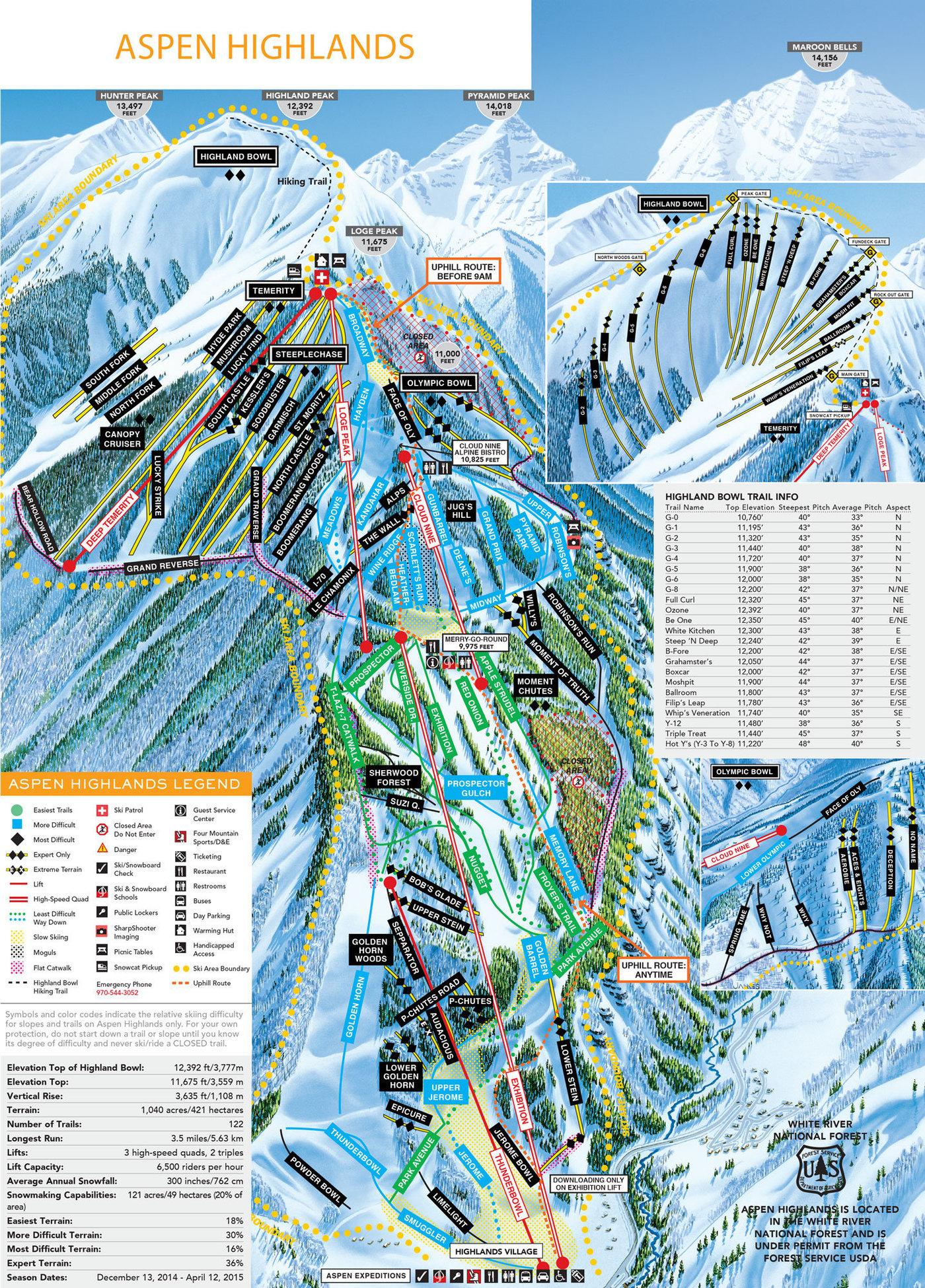 Aspen Highlands Trail Map