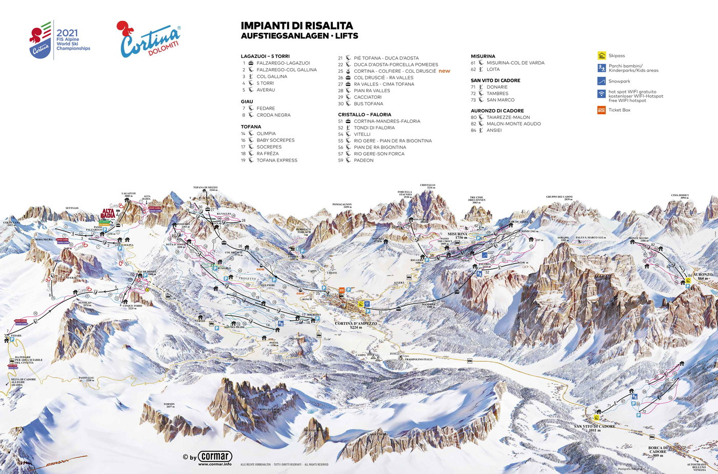 Cortina d'Ampezzo Trail Map